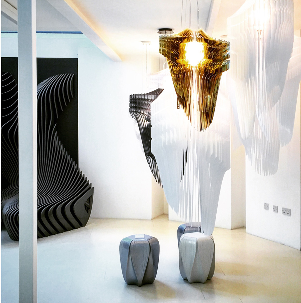 London design festival 2016 slamp for Zaha hadid lamp