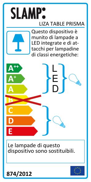 Liza : Lampada da Tavolo : Slamp