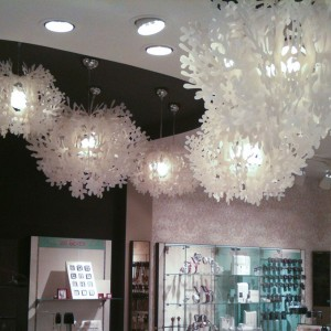 Fiorella Suspension white by Nigel Coates for Bijou Brigitte, Barcelona (Spain)
