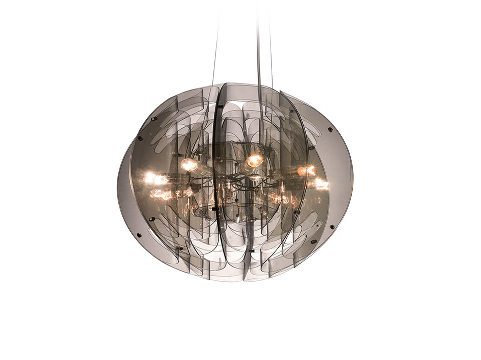 Atlante Suspension - Suspension Lamps - colour: fumé