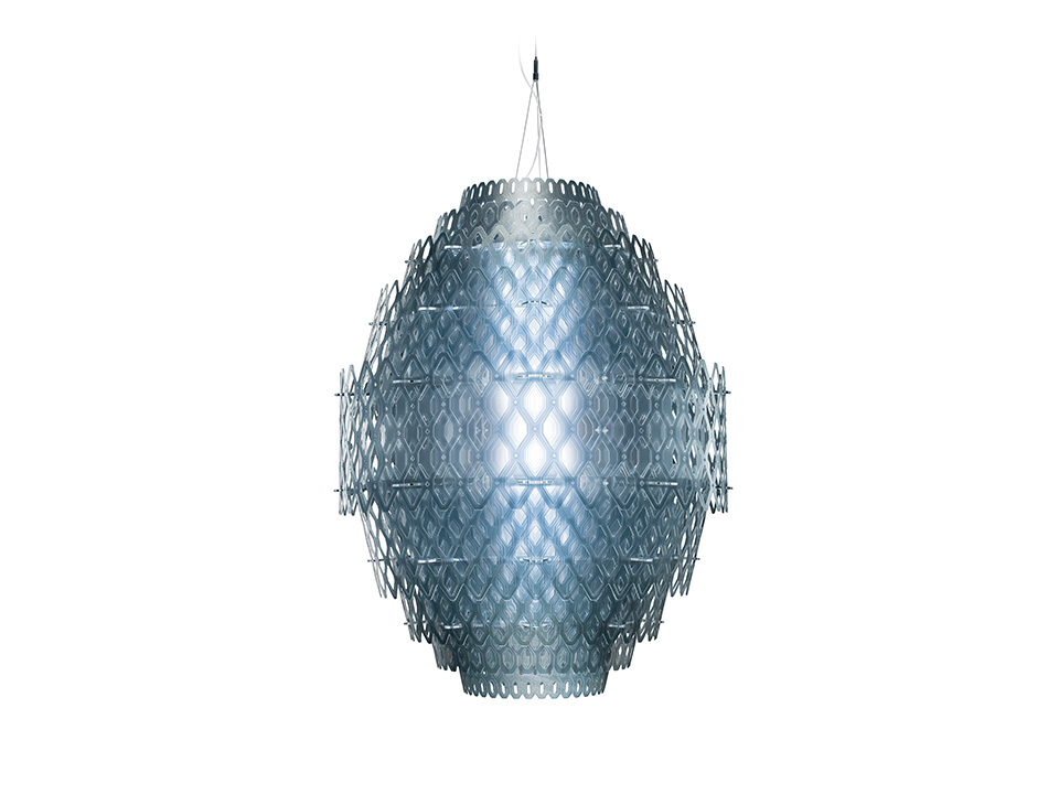 Charlotte - Lampes a Suspension - couleur: blue