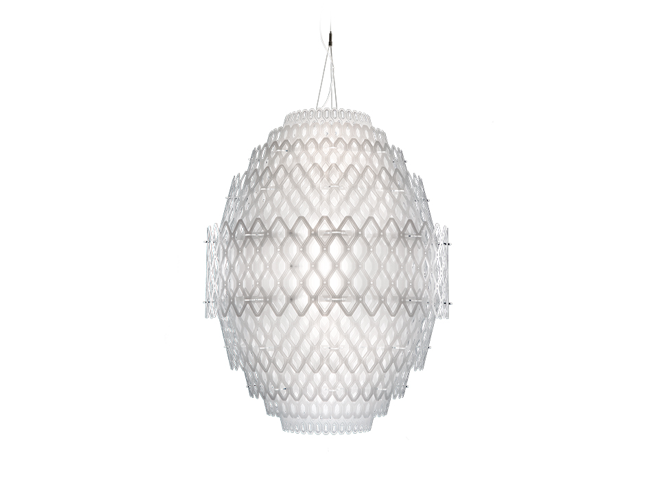 Charlotte - Lampes a Suspension - couleur: white
