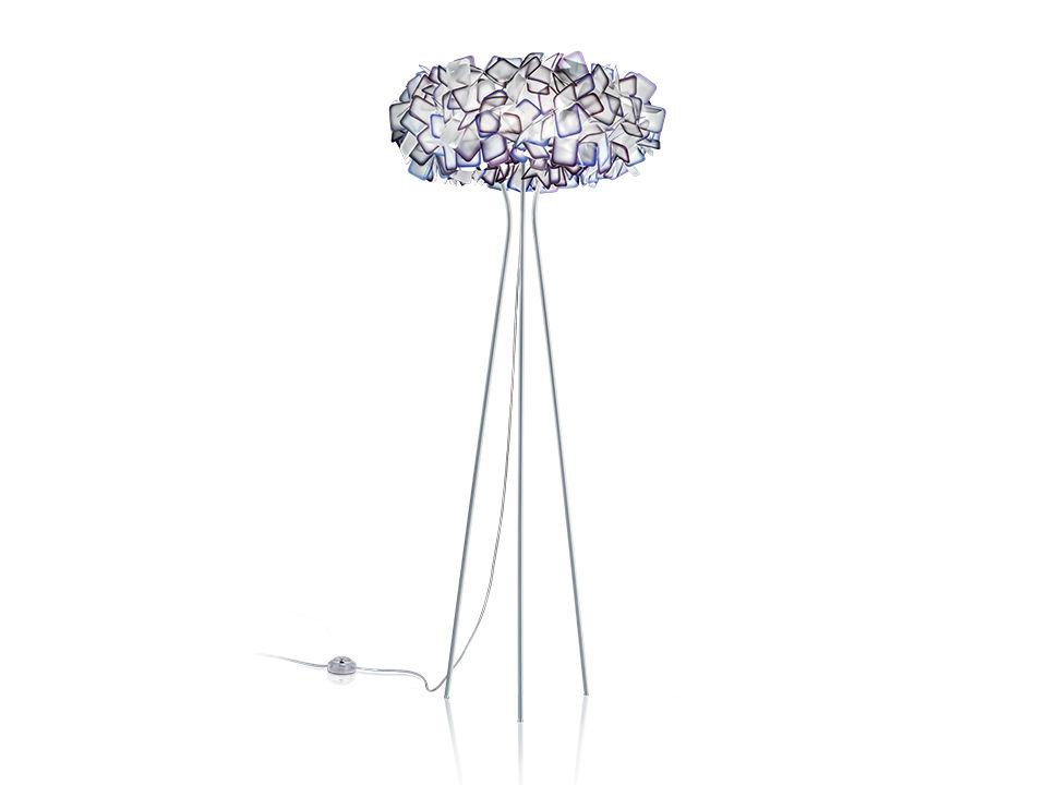 Clizia floor - Lampes de Terre/Table - couleur: purple