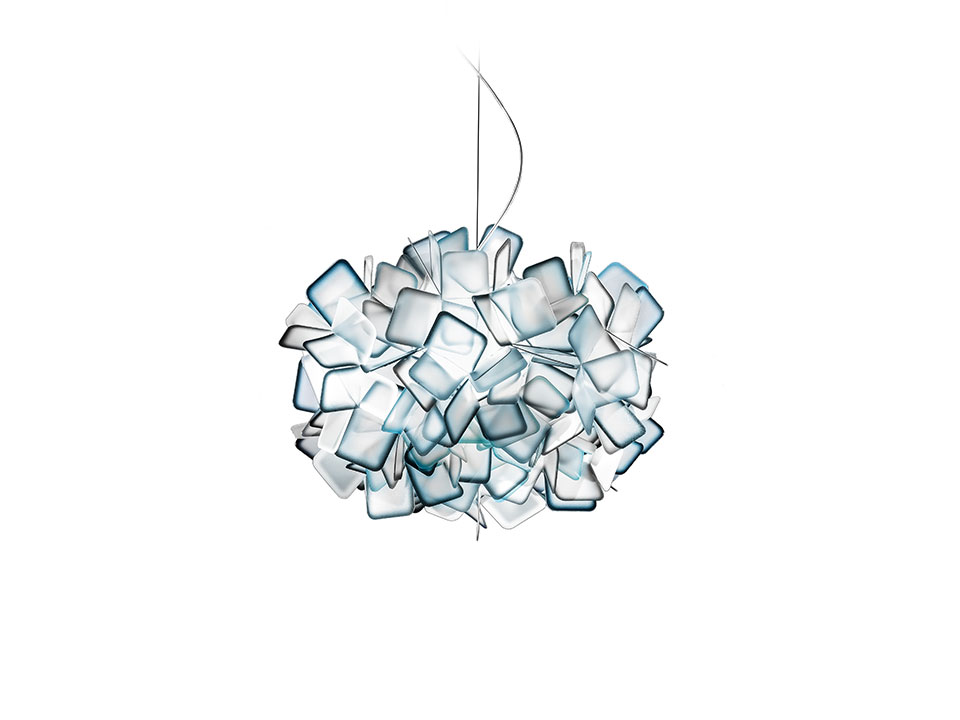 Clizia Suspension - Suspension Lamps - colour: blue