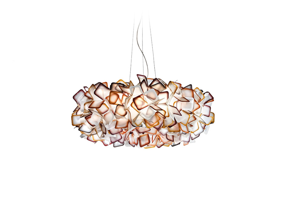 Clizia Suspension Large - Lampes a Suspension - couleur: orange