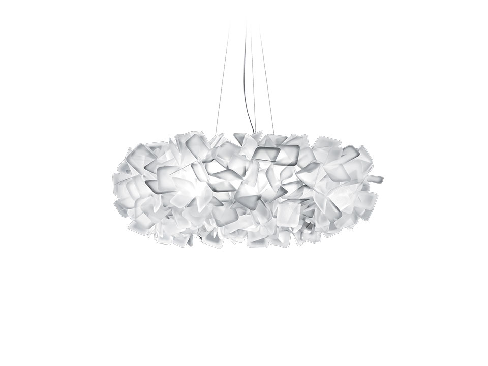 Clizia Suspension Large - Lampes a Suspension - couleur: white
