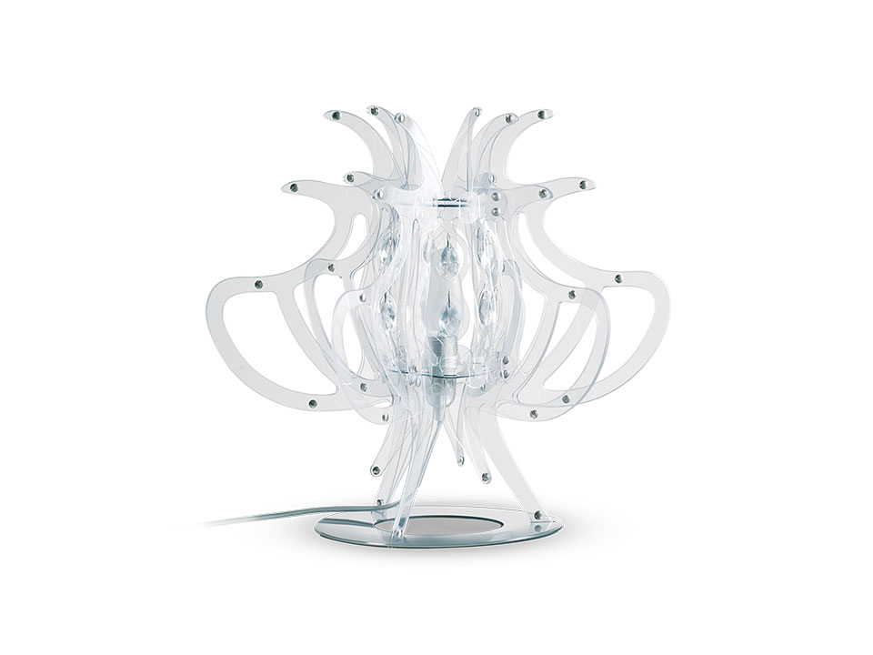 Comodina - Lampes de Terre/Table - couleur: transparent