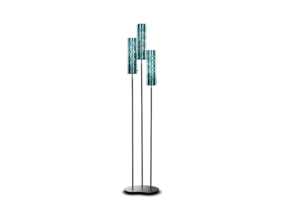 Dimple Floor Trio - Lampade da Terra - colore: emerald