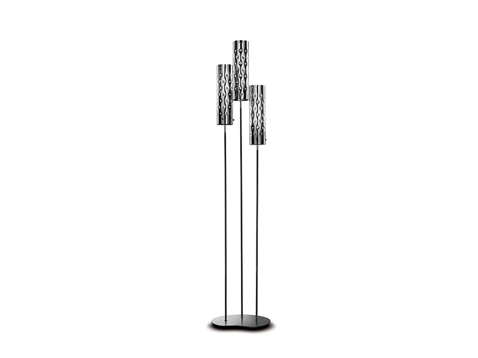 Dimple Floor Trio - Lampade da Terra - colore: silver
