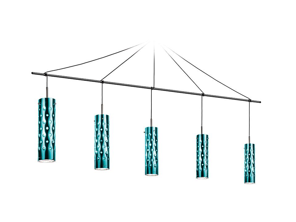 Dimple Suspension Penta - Lampade a Sospensione - colore: emerald