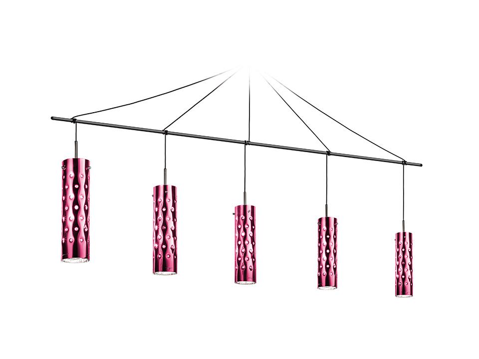 Dimple Suspension Penta - Lampade a Sospensione - colore: rose
