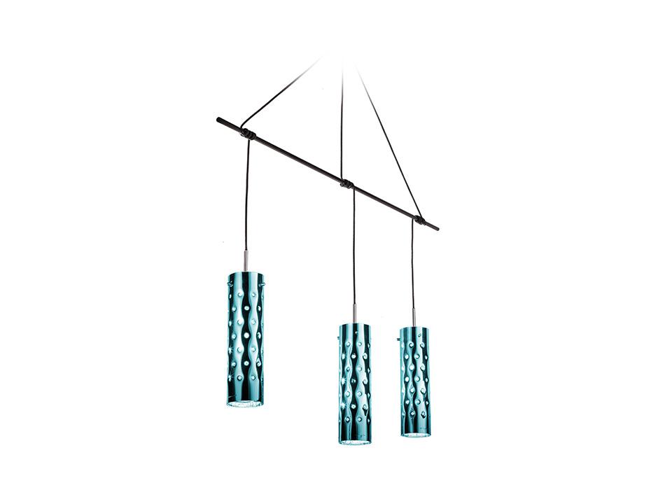 Dimple Suspension Trio - Lampade a Sospensione - colore: emerald
