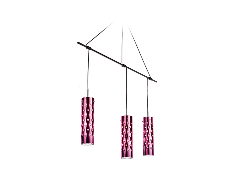 Dimple Suspension Trio - Lampade a Sospensione - colore: rose