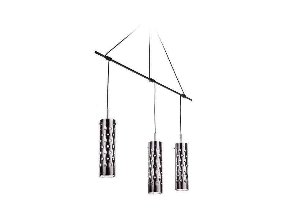 Dimple Suspension Trio - Lampade a Sospensione - colore: silver