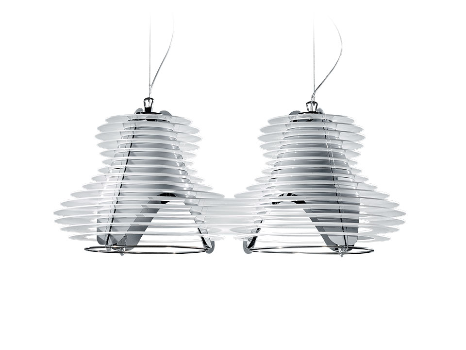 Faretto Double Suspension - Suspension Lamps - colour: