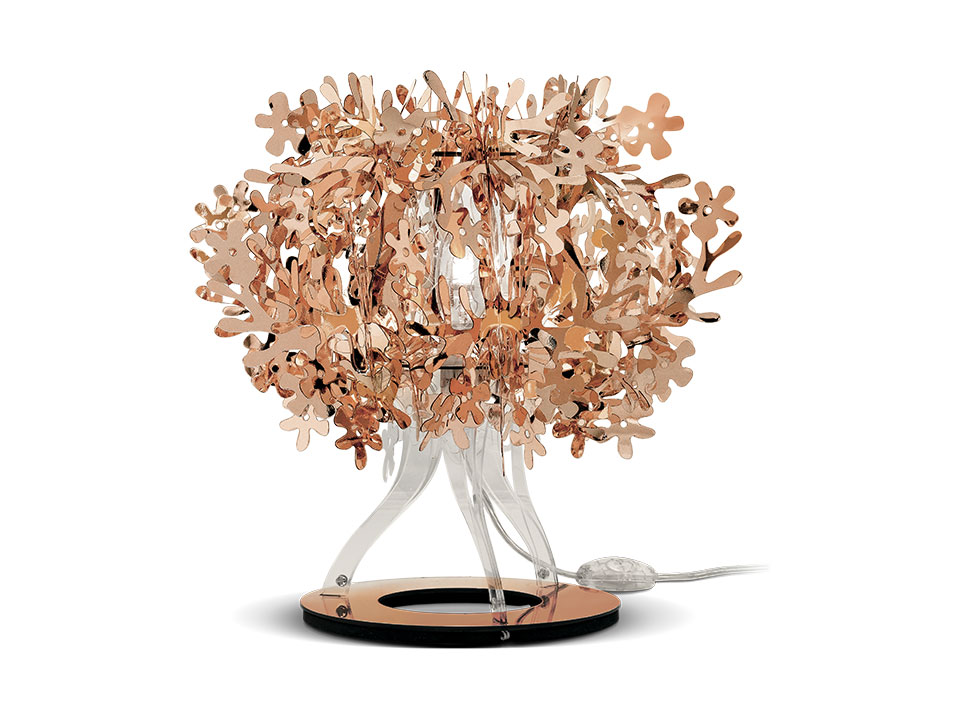 Fiorellina Gold, Silver and Copper - Lampara de Pie/Mesa - colour: copper