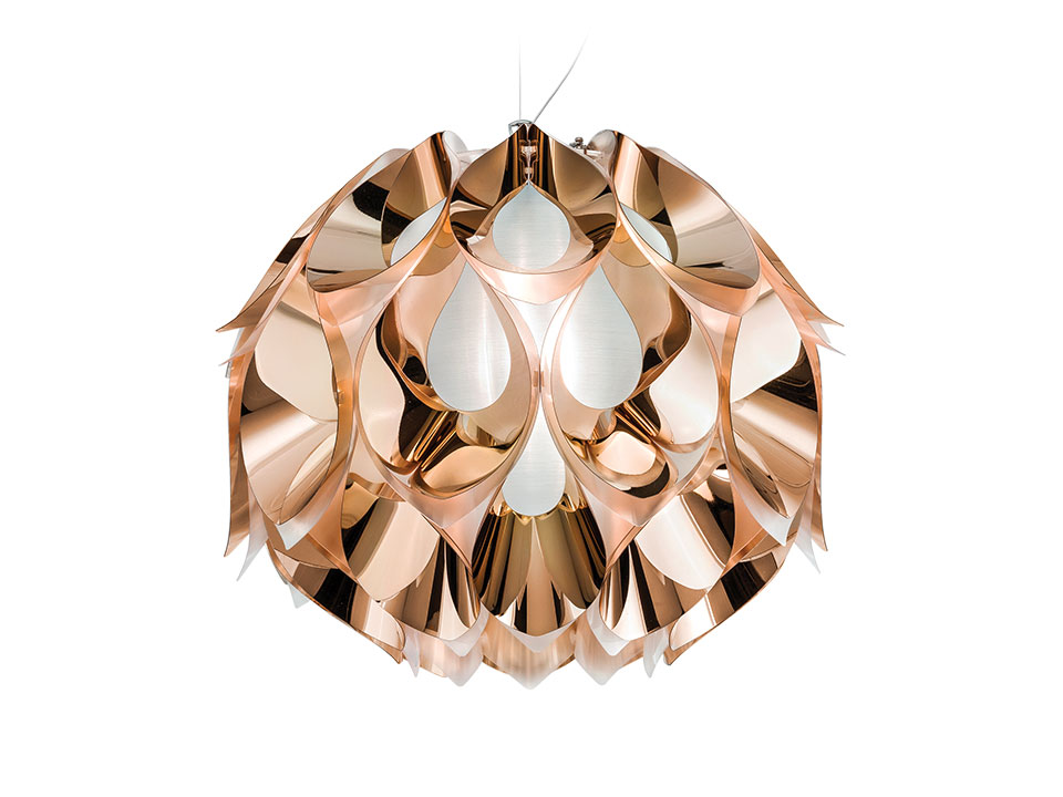 Flora Gold, Silver and Copper - Lampes a Suspension - couleur: copper