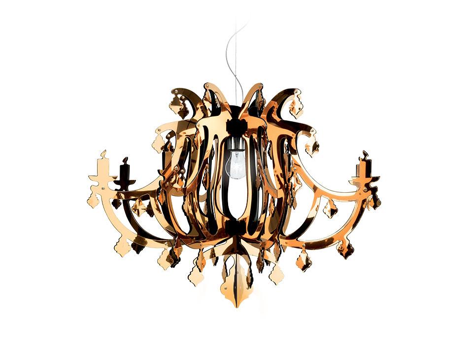 Ginetta - Suspension Lamps - colour: gold