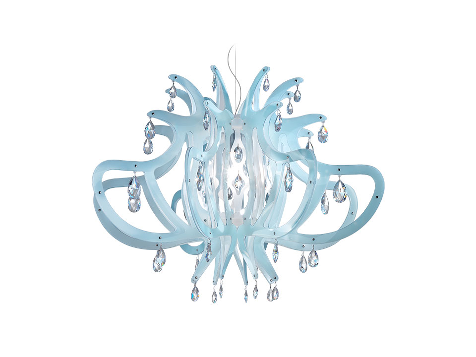 Medusa - Suspension Lamps - colour: blue/gel
