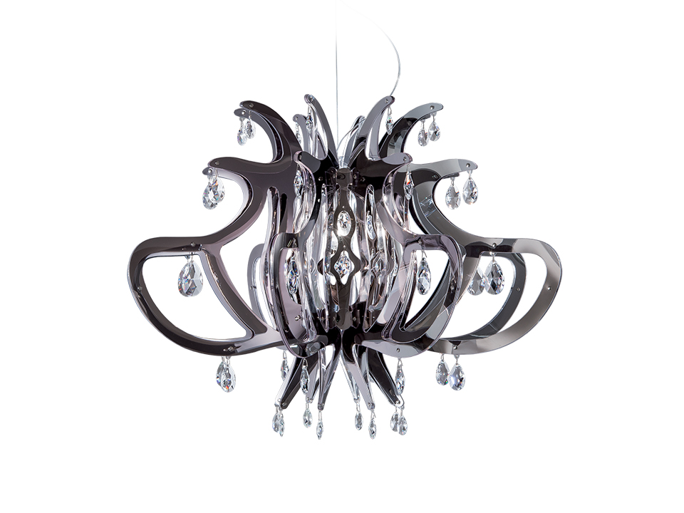 Medusa - Suspension Lamps - colour: pewter