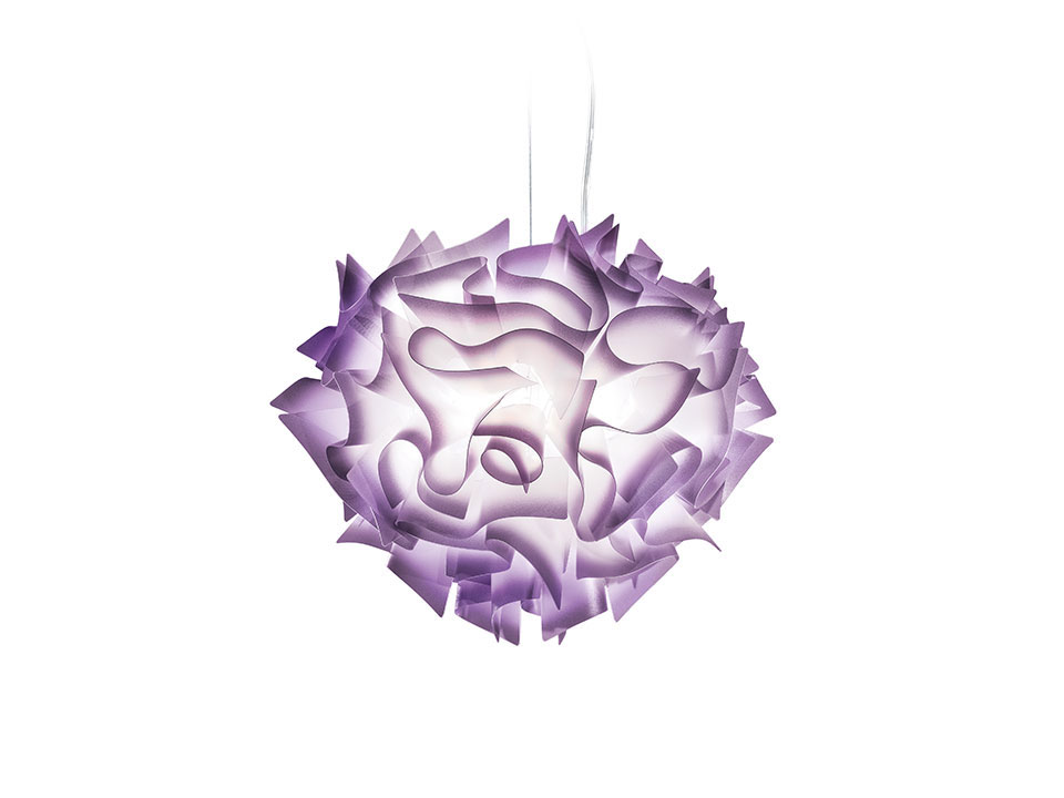 Veli Suspension - Suspension Lamps - colour: plum