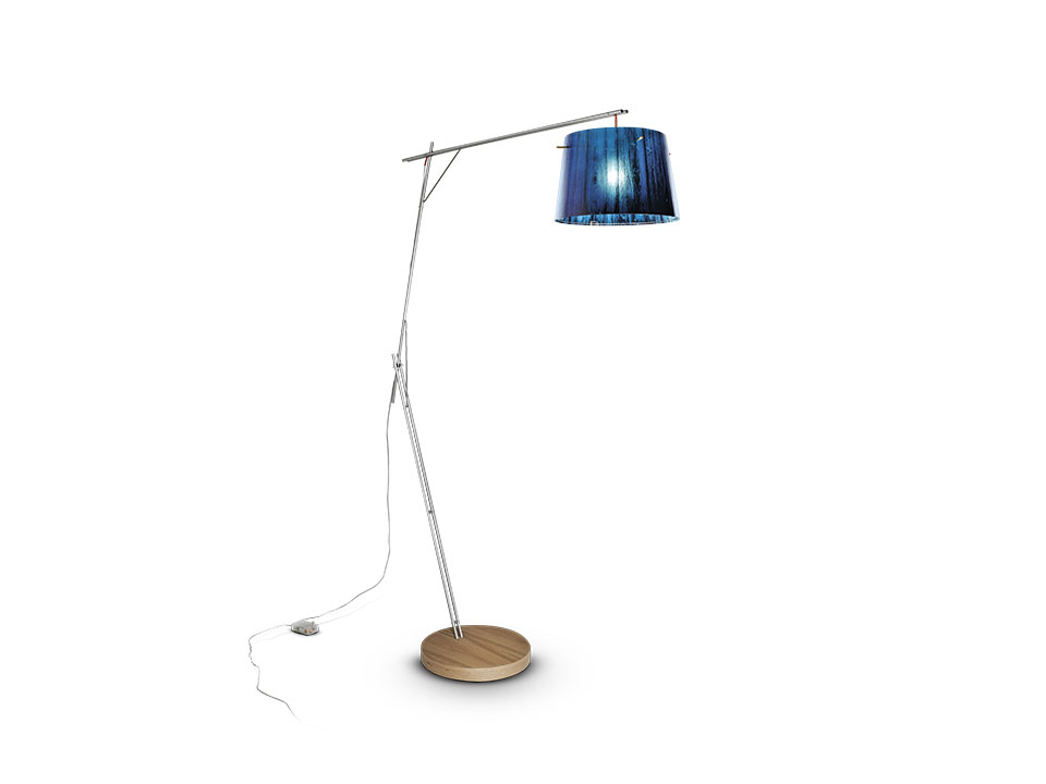Woody - Floor/Table Lamps - colour: blue