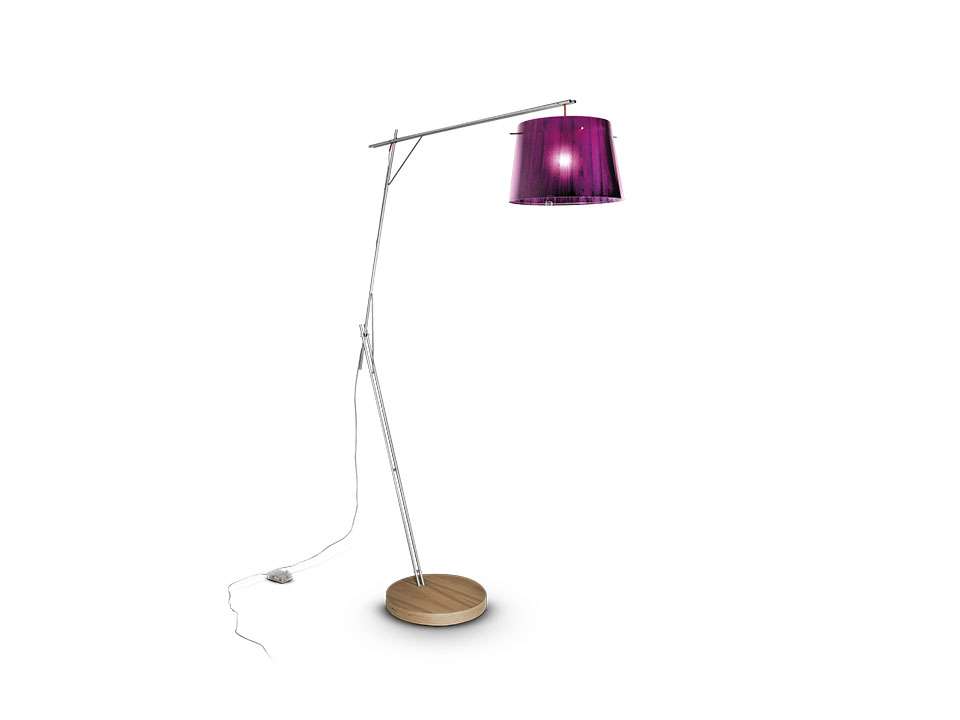 Woody - Floor/Table Lamps - colour: purple